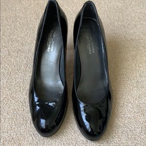 Russell & Bromley Black  Patent  Leather Pumps